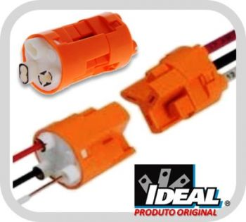 Conectores Trifásico para Luminárias PowerPlug 30-353XJ / 103X - 100 Und. - Ideal Industries