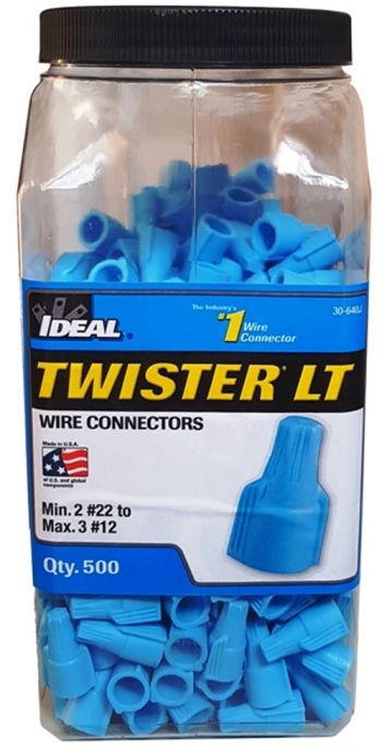Conectores Elétricos de Torção Twister LT Azul 2,5mm² 30-640 jarra- Ideal Industries