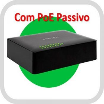 Switch Desktop PoE 16 Portas 10/100 Mbps SF 1600 Q+ - Intelbras