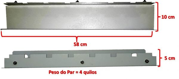 Base Soleira Universal 600mm Para Rack Outdoor - Par  - foto 7