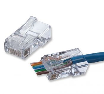 Conector EZ-RJ-45 Vazado Cat5e Feed-Through 85-372 Cx 100un - Ideal Industries