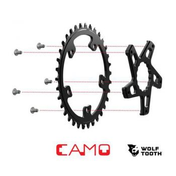 Aranha e Coroa 36T WOLF TOOTH CAMO DIRECT MOUNT PARA RACE FACE 8MM