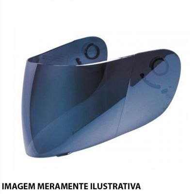 Viseira Azul Iridium Texx Flash (Com Botao Tear Off)