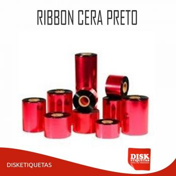 Ribbon Cera Preto G50 110mm x 450m