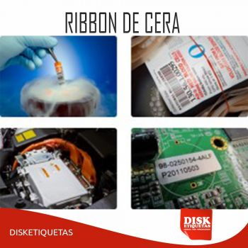 Ribbon de Cera G50 110mm X 91m Preto
