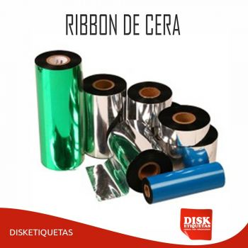 Ribbon de Cera 110mm X 91m Preto