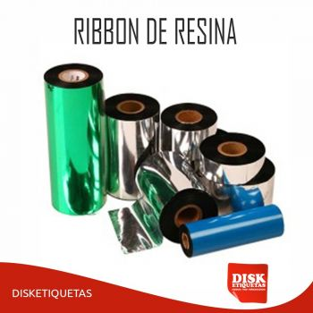 Ribbon de Resina 110mm X 91m Preto