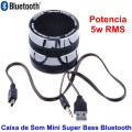 Mini Caixa de Som Super Bass 3W Bluetooth