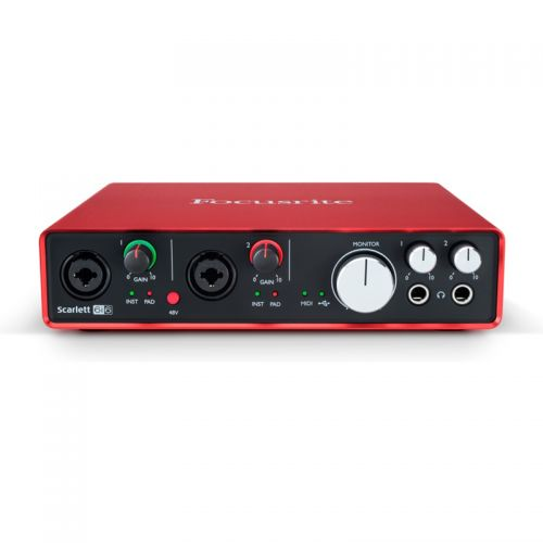 Interface De Áudio Focusrite USB Scarlett 6i6