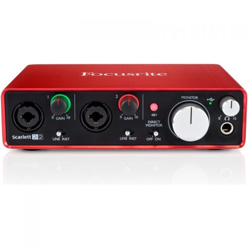 Interface De Audio USB Focusrite Scarlett 2I2 2 Canais