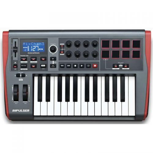 Teclado Controlador Midi USB 25 Teclas Impulse 25 - Novation