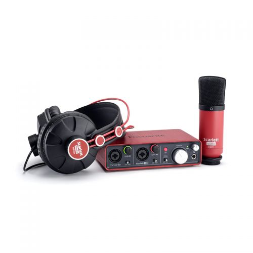 Interface De Áudio Focusrite USB Scarlet Studio com Fone e Microfone
