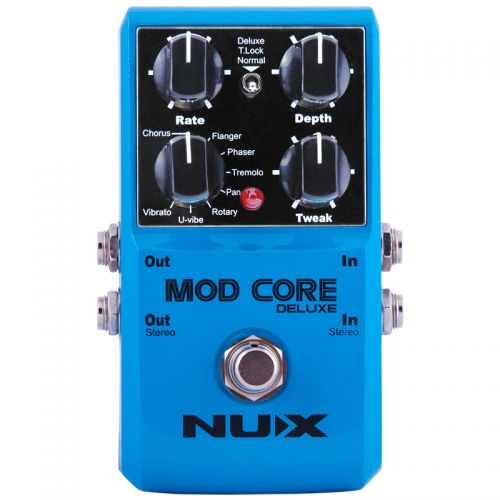 Pedal Nux Mod Core Deluxe Chorus Flanger Phaser Tremolo Rotary Pan Vibrato