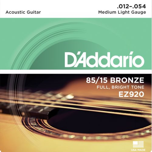 Encordoamento Violão Aço D'addario EZ920 012 Medium Light