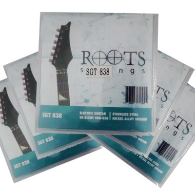 Kit com 5 Encordoamentos Para Guitarra - Roots