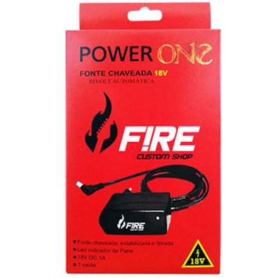 Fonte Para Pedal 18V Power One 18V - Fire Custom Shop