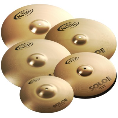 Set de Pratos Orion Solo Pro 12 14 16 18 20 com Bag PR102 Prato Bronze B8