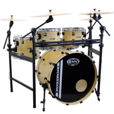 Bateria Crossroad Jazz Natural Bumbo 18 Com Rack - Rmv