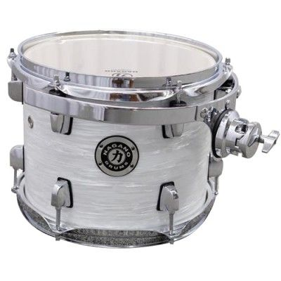 Tom 8 Polegadas 8 x 7 Com Clamp e Holder Concert Branco - Nagano