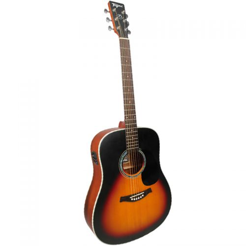 Violao Folk Elétrico Tagima TW25 Woodstock Acoustic Series DP Drop Sun Sunburst