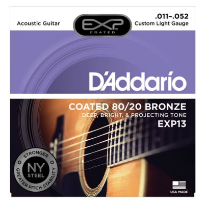 Encordoamento para Violão D'addario EXP13 011 Custom Light