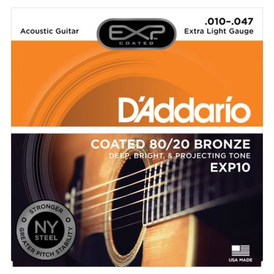 Encordoamento Para Violão EXP10 010 EXP Coated - DAddario