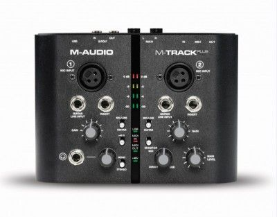 Interface de Audio 2 Canais Usb M-Track Plus - M-Audio