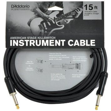 Cabo para Guitarra P10 American Stage Planet Waves Kill Swith 4,57m PW-AMSK-15