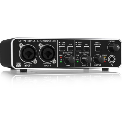 Interface de Audio Behringer 2 Canais Com pré MIDAS U-Phoria UMC202HD