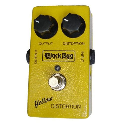 Pedal de Efeito para Guitarra Black Bug Yellow Distortion TYD2 Distorção