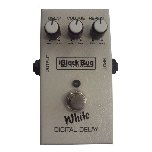 Pedal de Efeito para Guitarra Black Bug White Digital Delay TWD