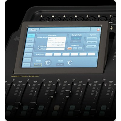 Mesa de Som Soundking  DM20 Mixer Digital USB 16 Canais com Interface, Tela Touch Screen e Controle Wireless