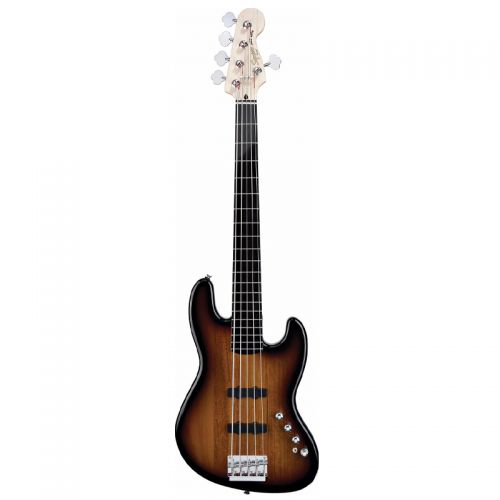 Baixo Fender Ativo Jazz Bass V Active Squier Deluxe Sunburst 030 0575