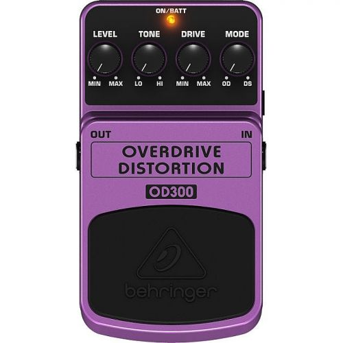 Pedal para Guitarra Overdrive Distortion OD300 - Behringer
