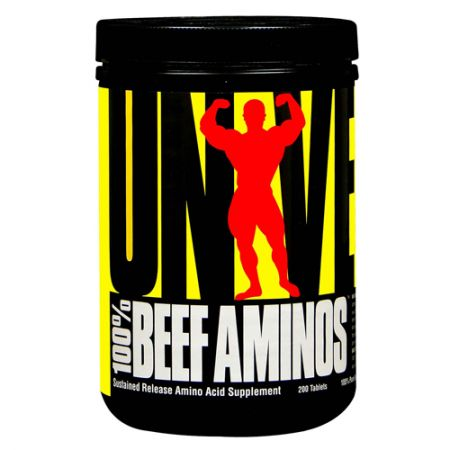 100% Beef Aminos - 200 Tabletes - Universal Nutrition