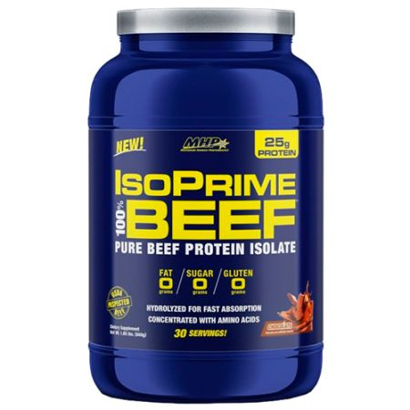 IsoPrime 100% Beef Protein Isolate - 840g - MHP (Grátis 1 Coqueteleira)
