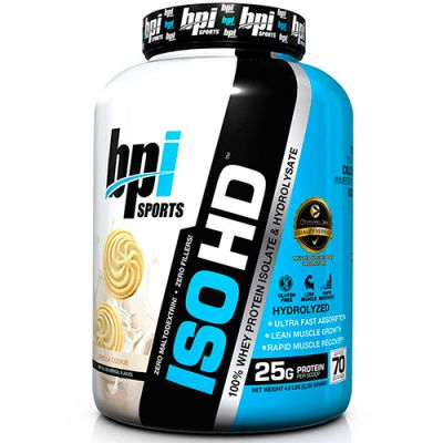 Iso HD 100% Whey Isolate & Hydrolysate - 2285g - BPI Sports