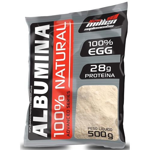 Albumina 100% Advanced Series - Pacote 500g - New Millen