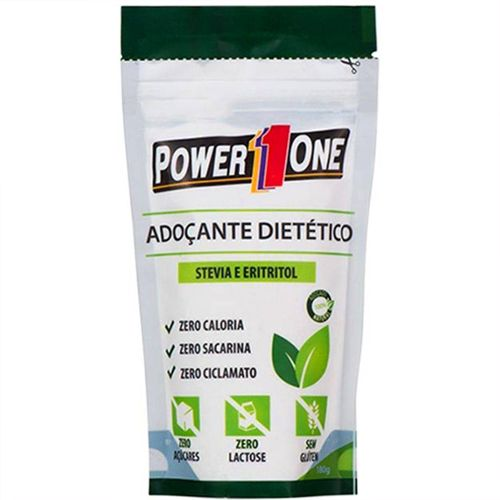 Adoçante Stevia e Eritritol - 180g - Power One