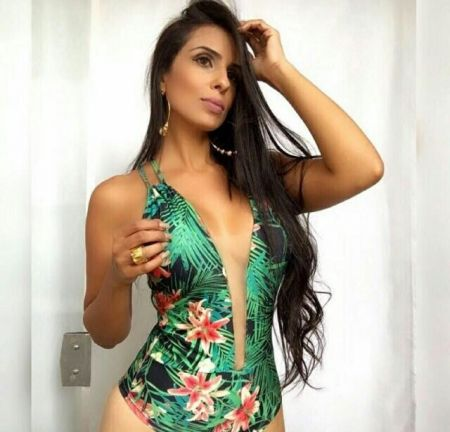 Body verde estampado