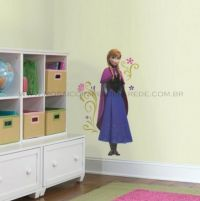 Adesivo RoomMates - Frozen Anna with Cape Giant Wall Decals - RMK2737GM