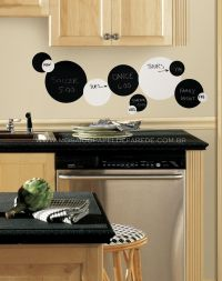 Adesivo RoomMates - Black & White Dots Wall Decals - RMK 1311SCS