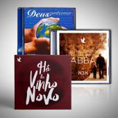 KIT  -  01 CD ABBA | 01 CD DEUS PODEROSO | 01 CD VINHO NOVO