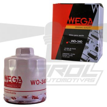 Filtro de Óleo para Audi A3 / Bora / Cross Fox / Fox / Gol / Golf / Kombi / Parati / Polo / Space Cross / Space Fox / Voyage - Wega - WO340