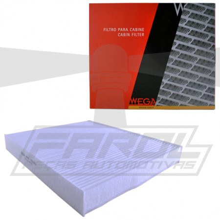 Filtro de Ar Cabine para Cross Fox / Fox / Gol / Golf / Parati / Polo / Saveiro / Space Cross / Space Fox / Voyage - Wega - AKX35163  - foto principal 1