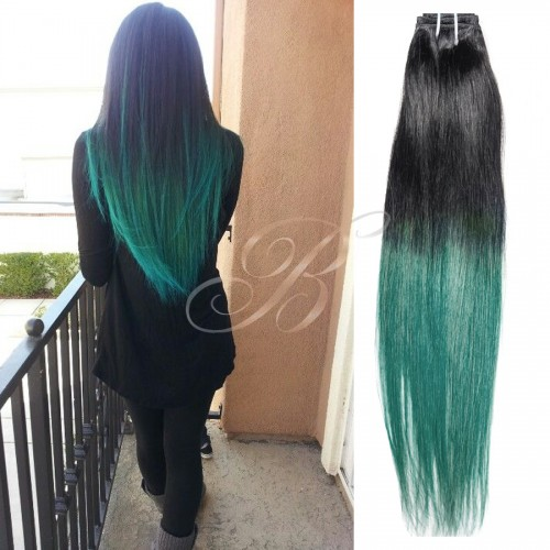 Mega Hair Tic Tac Liso Rock cor TT HUNTER GREEN - Fibra Japonesa Sleek - BellaHair I