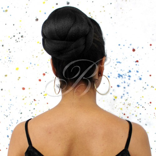 RABO DE CAVALO COQUE & FRANJA Liso Twisted Bun Bang - Cor 1B - Equal - Bella Hair IV