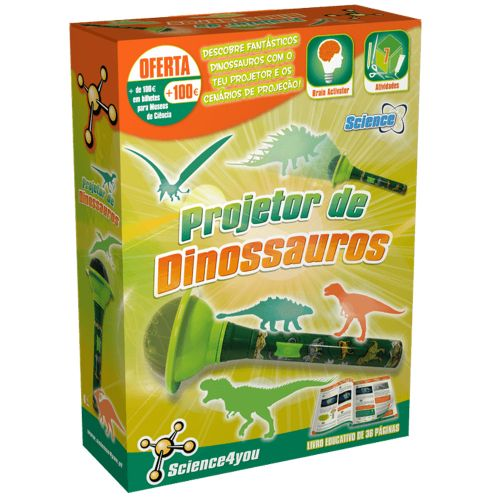Projetor de Dinossauros + Livro - Science4you