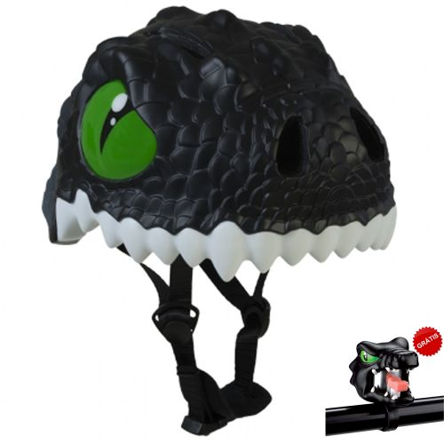 Capacete Infantil com LED Black Dragon 49 a 55 cm - Crazy Safety