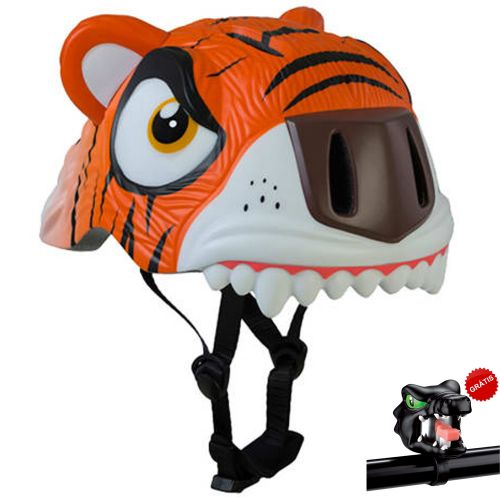 Capacete Infantil com LED Orange Tiger 49 a 55 cm - Crazy Safety
